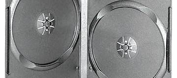 14mm Double Black Long DVD Case