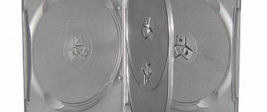 4 Discs Black DVD Case