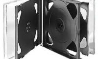 6 Discs Black CD Case